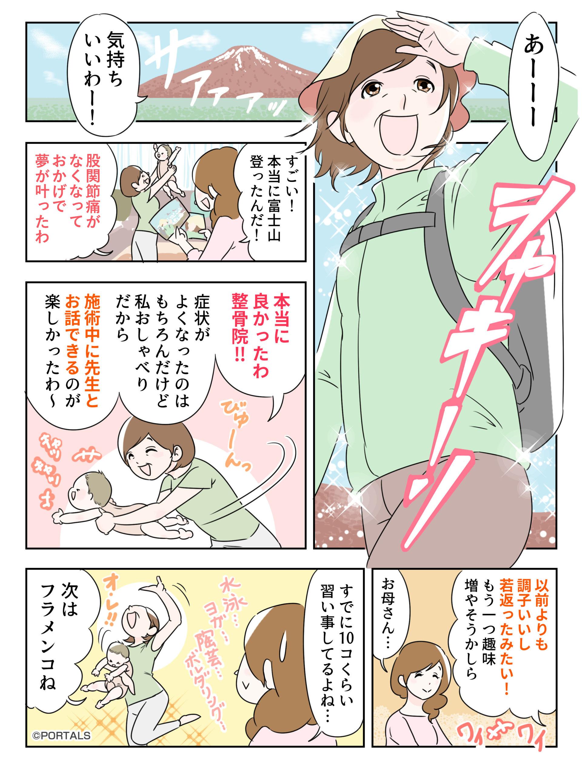 股関節痛マンガ1